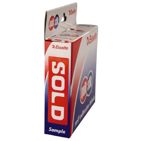 Quik Stik Labels Sold Removable 250 Pack Red