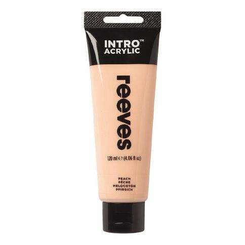 Reeves Intro Acrylic Paint Peach Pink 120ml