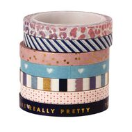 Me & My Big Ideas Washi Tape 6mm x 6m Glam Girl 7 Pack