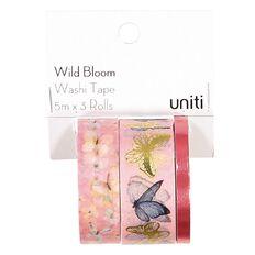 Uniti Wild Bloom Washi Tape Foil 3 Pack