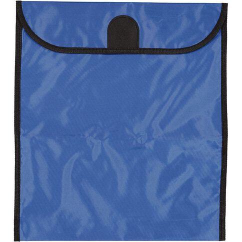 GBP Stationery Book Bag Zipper Pocket 370mm x 335mm Blue
