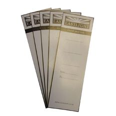 Eastlight Lever Arch Spine Labels 10 Pack White A4