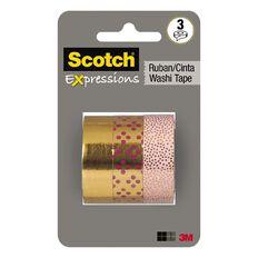Scotch Washi Craft Tape Multipack 3 Pack Gold Foil