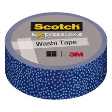 Scotch Washi Craft Tape 15mm x 10m Blue Dot Micro