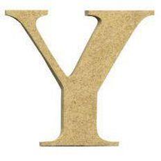 Sullivans Mdf Board Alphabet Letter 17cm Y Brown