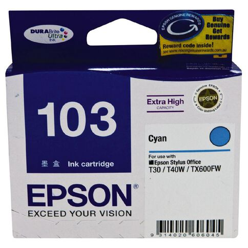 Epson Ink T103 Cyan (865 Pages)