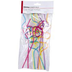 Kitchen Essentials Crazy Straws 10 Piece