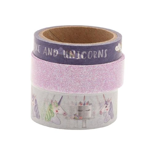 Uniti Washi Tape Purple 3 Pack