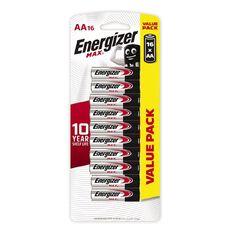 Energizer Max Alkaline Batteries AA 16 Pack