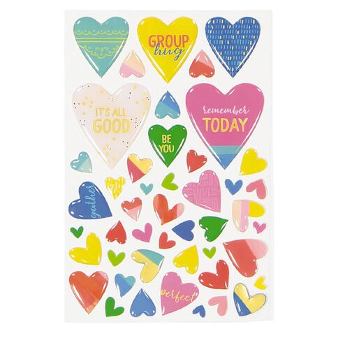 Rosie's Studio Lets Get Together Epoxy Heart Stickers