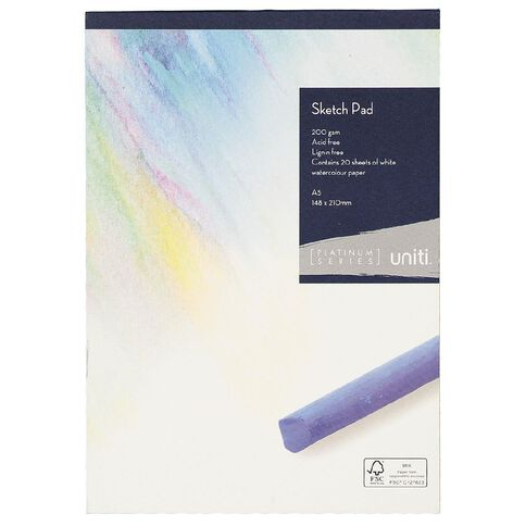 Uniti Platinum Sketch Pad 200gsm A5 20 sheets