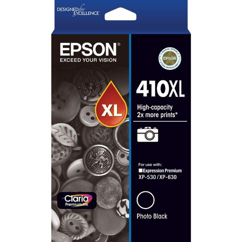 Epson Ink 410XL Photo Black (530 Pages)