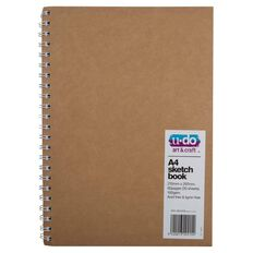 U-Do Spiral Bound Sketch Book Brown A4