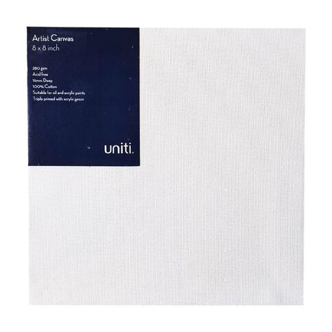 Uniti Blank Canvas 280gsm (4in x 4in) 20cm x 20cm