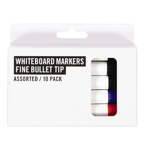Deskwise Whiteboard Markers Assorted 10 Pack Assorted