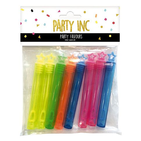 Party Inc Bubble Wands Mixed Assortment 8 Pack
