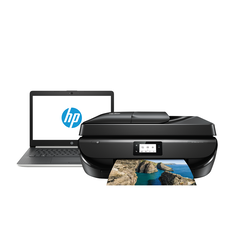 Buy 1 HP 14-CK0037TU 14 inch Notebook & 1 HP Officejet 5220 All-In-One Printer for $699