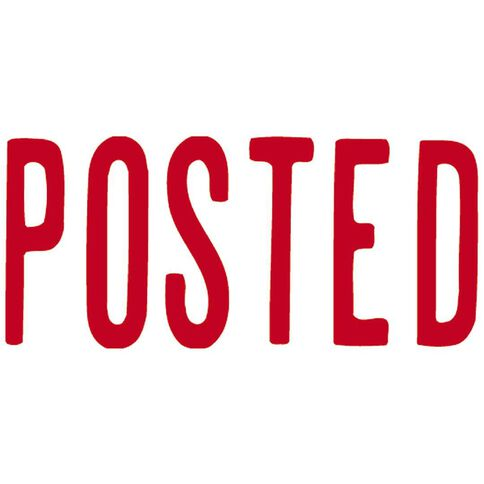 Xstamper Stamp Posted Red