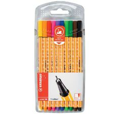 Stabilo Stabilo Pen Point 88 10 Pack Assorted