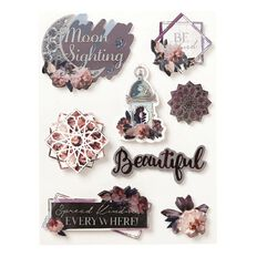 Uniti Floral Nights Dimensional Stickers