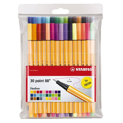 Stabilo Point 88 Zebrui 30 Pack Assorted