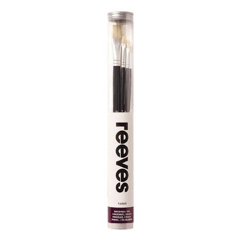 Reeves Oil Brush Long Handle 4 Pack