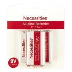 Necessities Brand 9V 6LR61 3 Pack