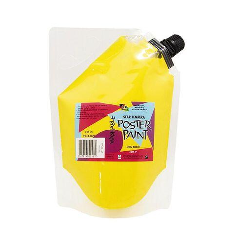 Fivestar Tempera Poster Paint Pouch Yellow 750ml Yellow 750ml