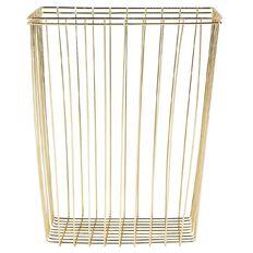 Uniti Black&Gold Waste Basket Metal Gold