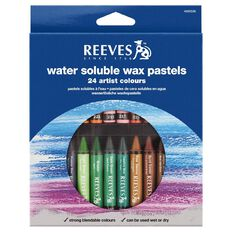 Reeves Water Soluble Wax Pastel 24 Piece