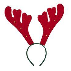 Artwrap Christmas Antlers with Bells Headband