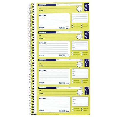 Spirax Telephone Message Book 550 Ncr Yellow Warehouse