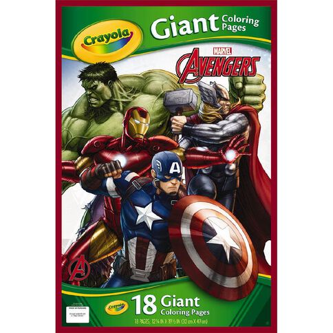 Avengers Crayola Giant Colouring Pages