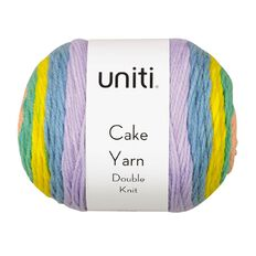 Uniti Yarn Cake Double Knit 200g Candy Pink 200g