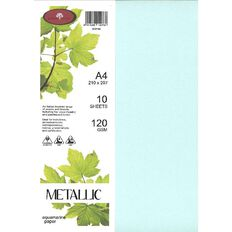 Direct Paper Metallic Paper 120gsm 10 Pack Aqua A4