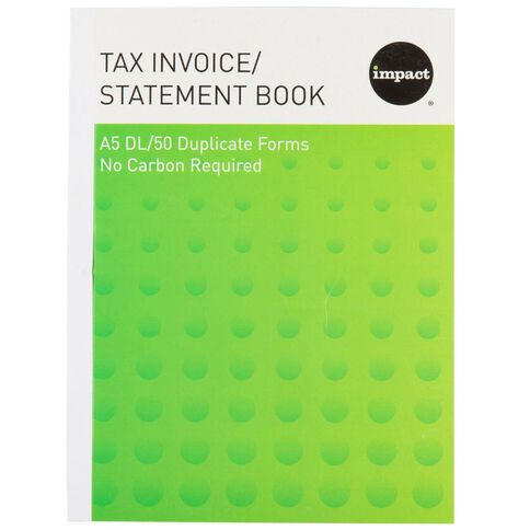 WS Invoice/Statement Book A5Dl Ncr 50 Forms Green
