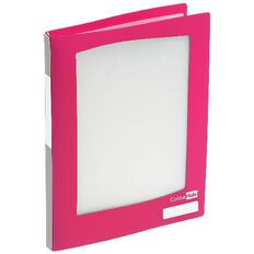 ColourHide Refillable Display Book 20 Pockets Pink A4