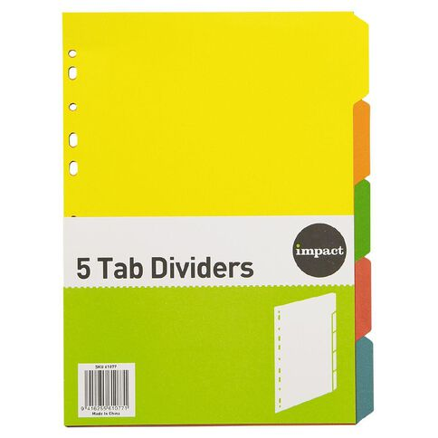 Impact Dividers Cardboard 5 Tab A4
