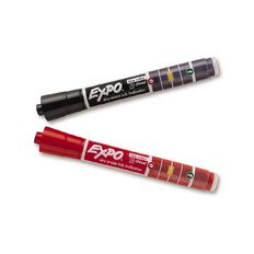 Expo Whiteboard Ink Indicator Marker Chisel Black/Red 2 Pack