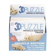 3D Vehicle Edition Wooden Puzzle Assorted