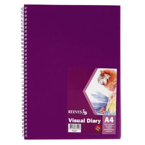 Reeves Visual Diary A4 Purple Purple A4