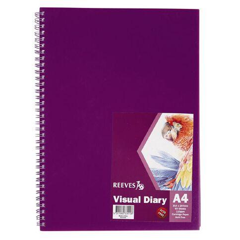 Reeves Visual Diary Purple A4