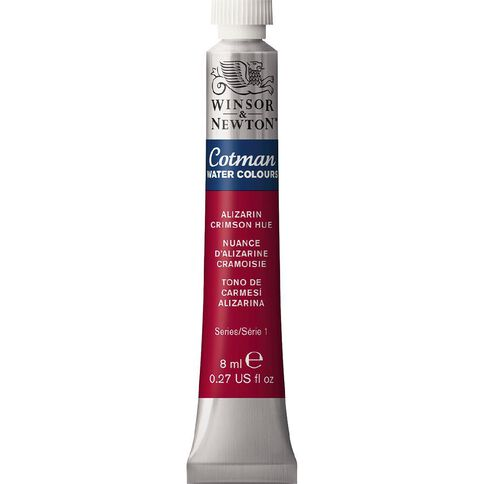 Winsor & Newton Cotman Watercolour Paint 8ml Alizarin Crimson Red