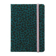 Uniti F&F Hardcover Notebook Velvet Leopard Green A6