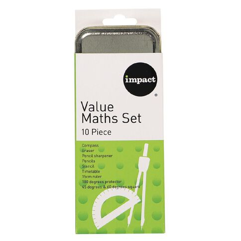 Impact Math Set Value 10 Piece Mixed Assortment