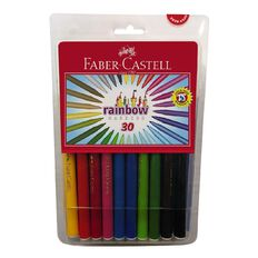 Faber-Castell Rainbow Colour Markers 30 Pack 30 Pack