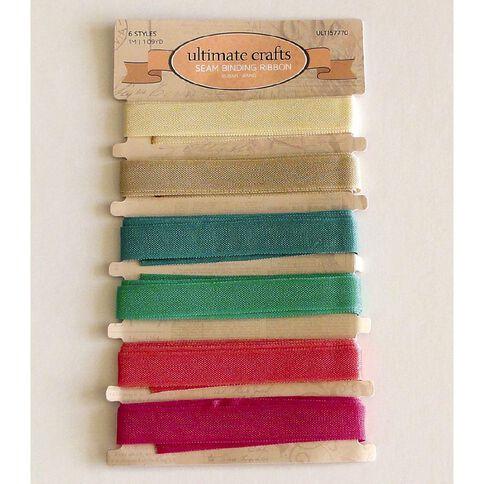 Ultimate Crafts Laquarelle Ribbon 6 Piece