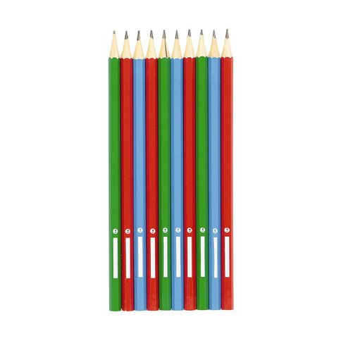 WS HB Pencils with name plate Assorted 10 Pack