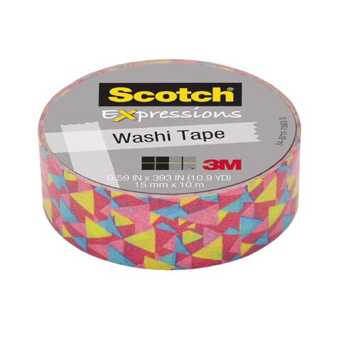 Scotch Washi Craft Tape 15mm x 10m Techno