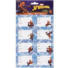 Spider-Man Book Labels